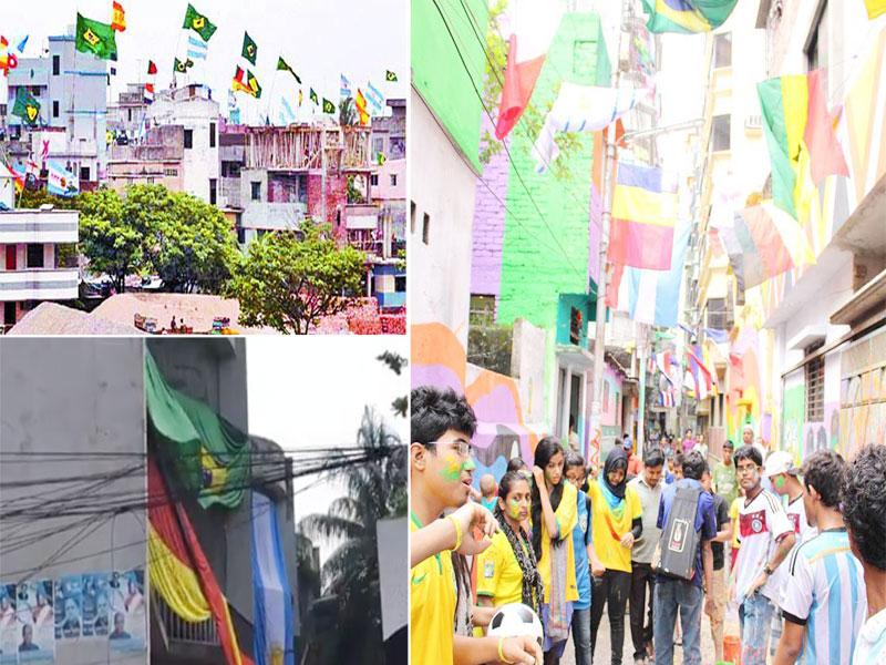 ঢাকার অলি-গলি বিশ্বকাপের 'বুলি'