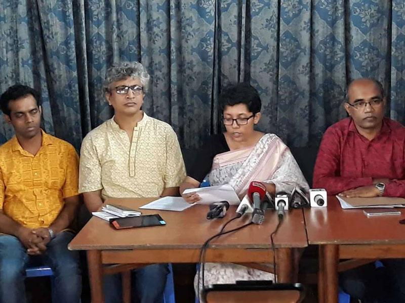 নিপীড়নবিরোধী শিক্ষকদের সংবাদ সম্মেলন, 'হামলায় দায়ী ছাত্রলীগ'