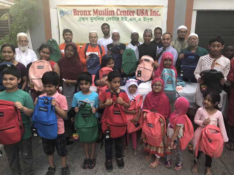 নিউইয়র্কে বাংলাদেশি শিক্ষার্থীদের মাঝে ফ্রি স্কুল সাপ্লাই বিতরণ