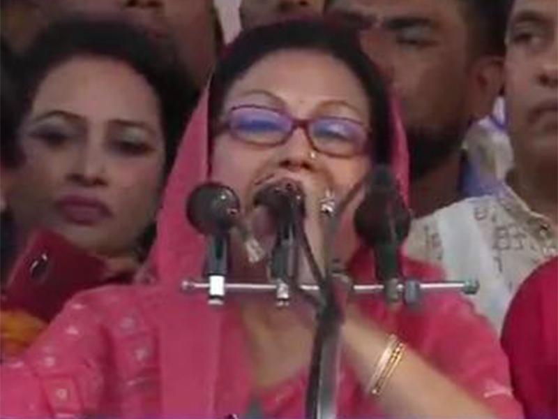 নৌকার জন্য কাজ করুন, ভুল থাকলে ক্ষমা চাই: হাছিনা গাজী