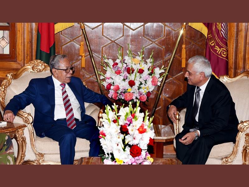 রাষ্ট্রপতির সঙ্গে নেপালি রাষ্ট্রদূতের বিদায়ী সাক্ষাৎ