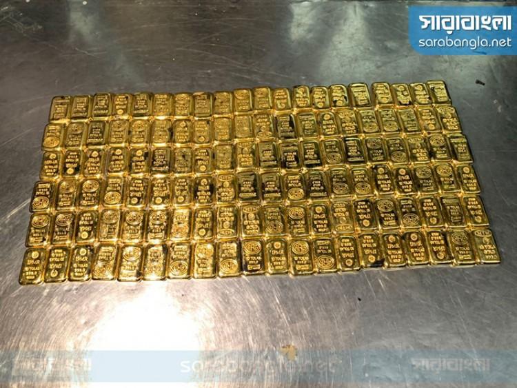শাহজালালে ইউএস-বাংলার বিমান থেকে ১৪ কেজি স্বর্ণ উদ্ধার