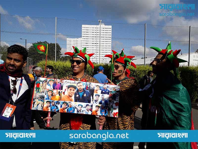 বাংলাদেশ-ভারত ম্যাচে সমর্থকদের উৎসব