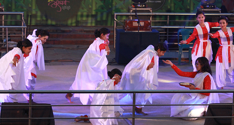 সাংস্কৃতিক উৎসবে আজ ঐতিহ্যবাহী লোকনাট্য 'ঝান্ডির গান'