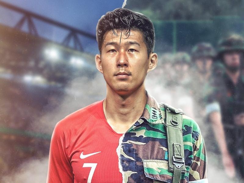 ফুটবল নয়, মিলিটারি অনুশীলনে হিউং মিন সন