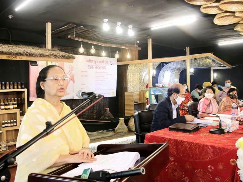 নারী উদ্যোক্তাদের 'জয়িতা ফুড কোর্টে'র উদ্বোধন