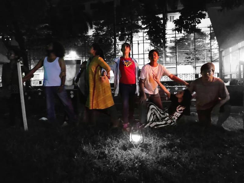 গঙ্গা যমুনা সাংস্কৃতিক উৎসবে পথ নাটক 'অদৃশ্যতা'