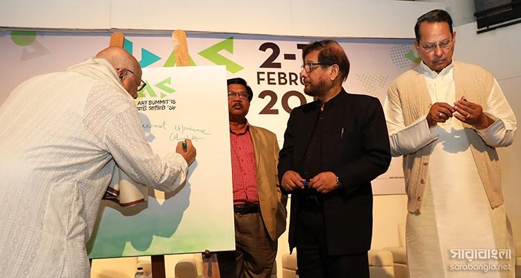 ঢাকা আর্ট সামিট ২০১৮ – ১ ছবি: আশীষ সেনগুপ্ত