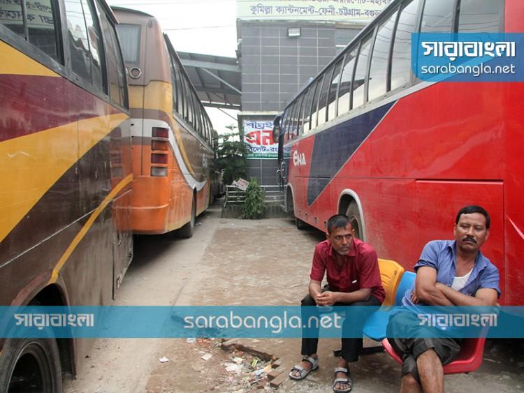 চট্টগ্রাম থেকে ৬৮ রুটে বাস চলাচল বন্ধ