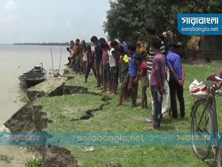 গাইবান্ধায় তিস্তা নদীর ভাঙন, ঝুঁকিতে ২০ গ্রামের মানুষ