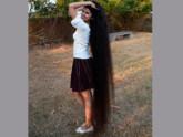 ৬ ফুট লম্বা চুলের নিলানশি যেন কল্পনার রাপুনজেল