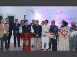 বাংলাদেশ ও শ্রীলংকার শিল্পীদের চিত্রপ্রদর্শনী 'মুজিব শতবর্ষ'