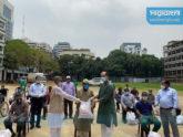 আতিকের 'সবাই মিলে সবার ঢাকা'কে খাদ্য সহায়তা দিলেন পরিবেশমন্ত্রী