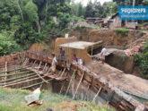 রামগড়ে ব্রিজ নির্মাণে অনিয়ম, দুর্ভোগে গ্রামবাসী