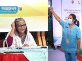 'জয় বাংলা'য় উজ্জীবিত ভ্যাকসিন হিরোরা, প্রধানমন্ত্রীর অভিবাদন