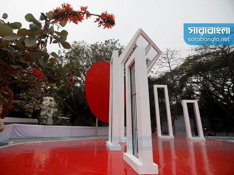 শ্রদ্ধা জানাতে প্রস্তুত শহিদ মিনার, চারপাশে কঠোর নিরাপত্তা বলয়