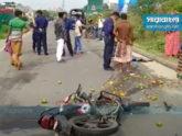 নারায়ণগঞ্জে ট্রাকচাপায় ২ মোটরসাইকেল আরোহী নিহত