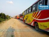 'মানবিক কারণে' দূরপাল্লার বাস ছেড়ে দেওয়ায় যানচলাচল স্বাভাবিক