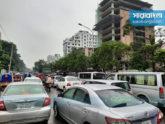 কঠোর বিধিনিষেধের ৭ম দিনে ঢাকার রাস্তায় যানজট